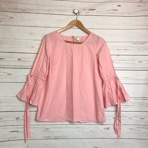 J. Crew cotton bell sleeve blouse